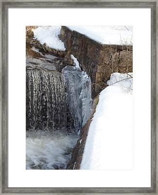 Frozen Over With Ice Framed Print by Jenna Mengersen