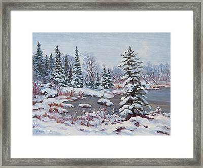 Frozen Pond Framed Print by Rob MacArthur