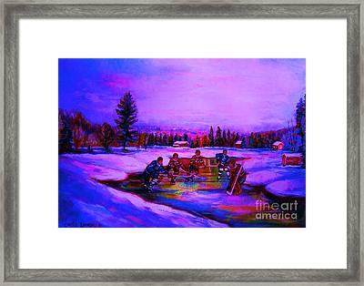Frozen Pond Framed Print by Carole Spandau
