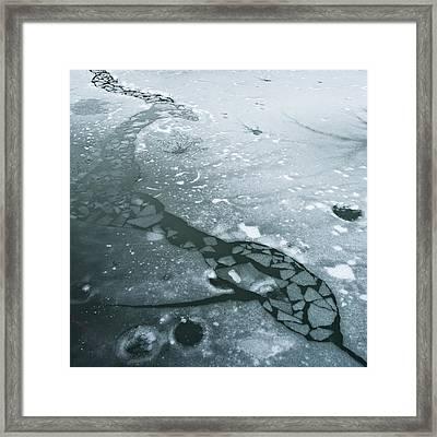 Frozen Pond Framed Print by Gary Eason