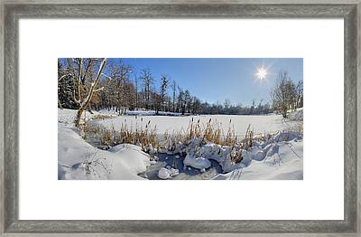 Frozen Pond Framed Print by Patrick Jacquet