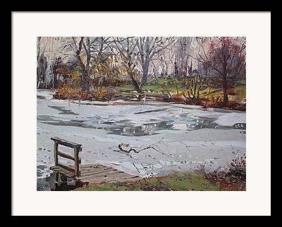 Pond Drawings Framed Prints