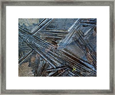 Frozen Puddle Framed Print by Heiko Koehrer-Wagner