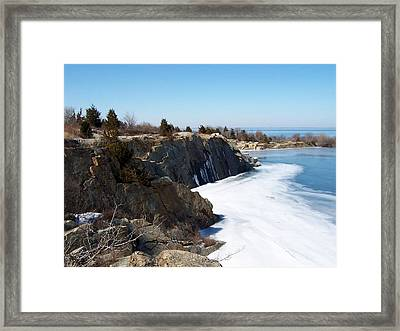 Frozen Quarry Framed Print by Catherine Gagne