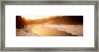 Frozen River, Bc, British Columbia Framed Print by Panoramic Images