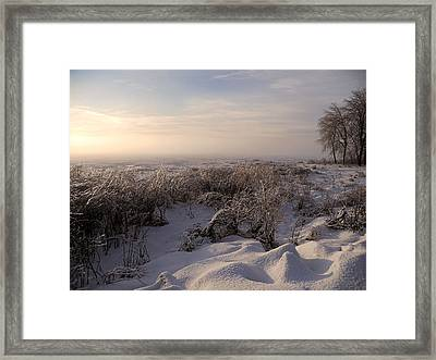 Frozen Riviere Des Mille Iles Framed Print by Juergen Weiss