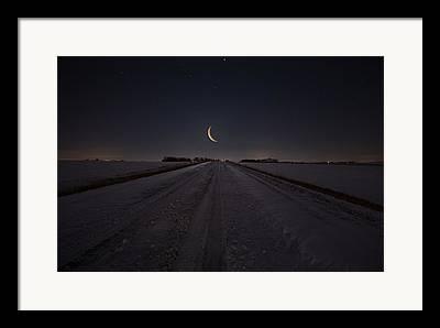 Waning Crescent Framed Prints