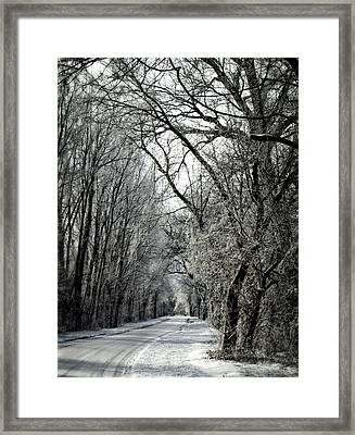 Frozen Road Framed Print