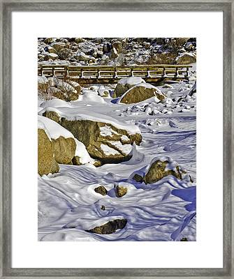 Frozen Roaring River Framed Print by Tom Wilbert