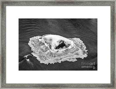 Frozen Rock Framed Print
