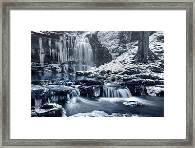 Frozen Scaleber Force Falls Framed Print by Chris Frost