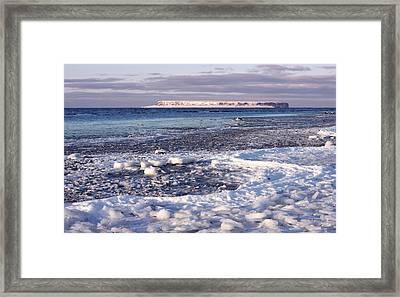 Frozen Shore Framed Print