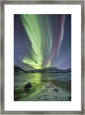 Frozen Shores Framed Print by Frank Olsen