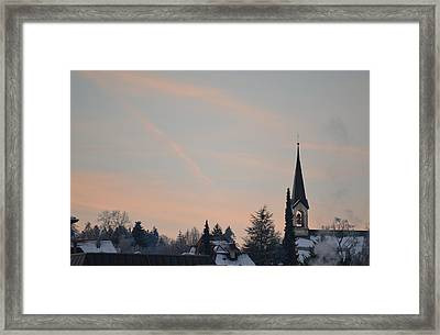 Framed Print featuring the photograph Frozen Sky 2 by Felicia Tica