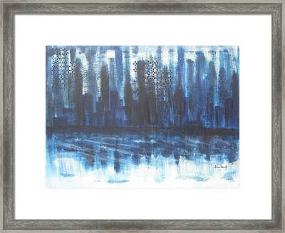 Frozen Skyline Framed Print