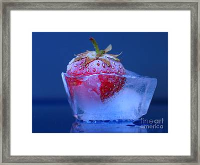 Framed Print featuring the photograph Frozen Strawberry Ice by Art Photography