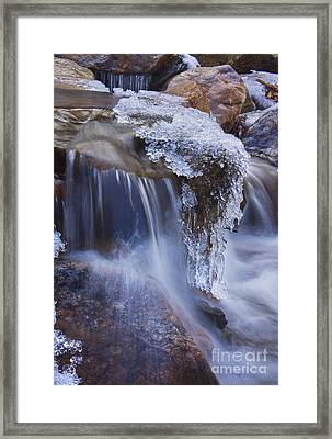 Frozen Stream Framed Print