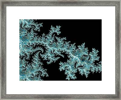 Framed Print featuring the digital art Frozen by Susan Maxwell Schmidt