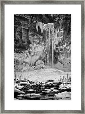 Frozen Taughannock Falls Framed Print by Monroe Payne