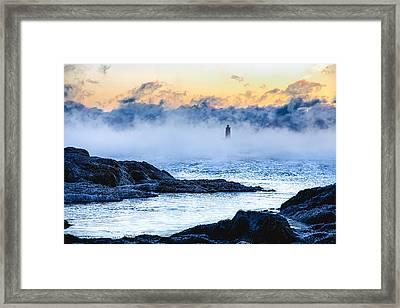 Frozen Tide Framed Print by Robert Clifford