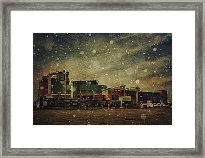 Frozen Tundra Part II - Lambeau Field Framed Print by Joel Witmeyer