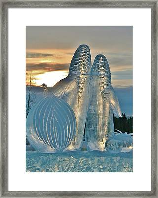 Frozen Veggies Framed Print