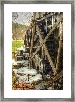 Frozen Water Wheel Framed Print