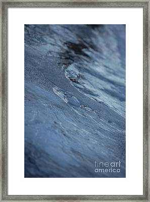 Framed Print featuring the photograph Frozen Wave by First Star Art