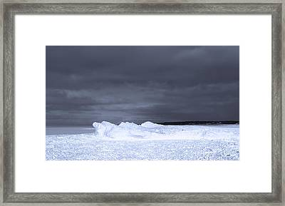 Frozen Wave On Lake Michigan Framed Print by Dan Sproul