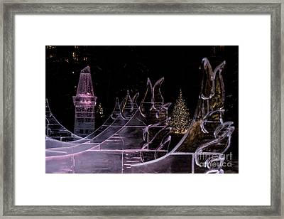 Frozen Waves Framed Print