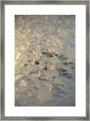 Looking Through The Frozen Window And See It All  Framed Print