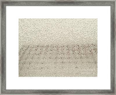 Frozen Window Framed Print