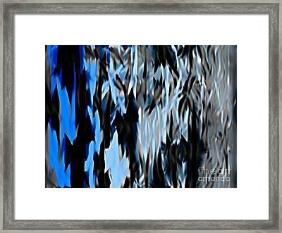 Frozen Zebra Framed Print