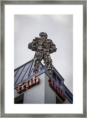 Fruh Beer Man Cologne Germany Framed Print