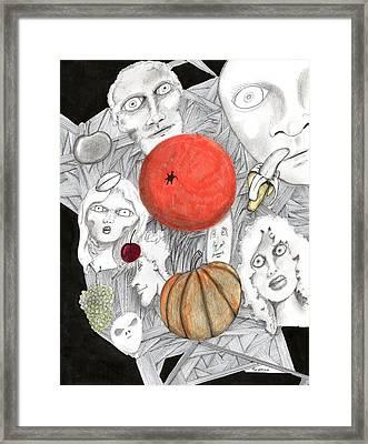 Fruit Afloat Framed Print by Dan Twyman
