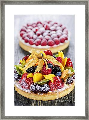 Fruit And Berry Tarts Framed Print