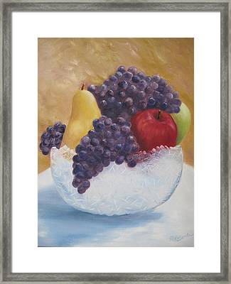 Fruit And Crystal Framed Print