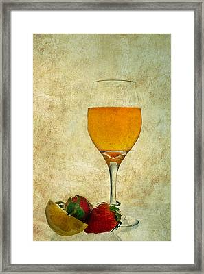 Fruit And Drink Framed Print