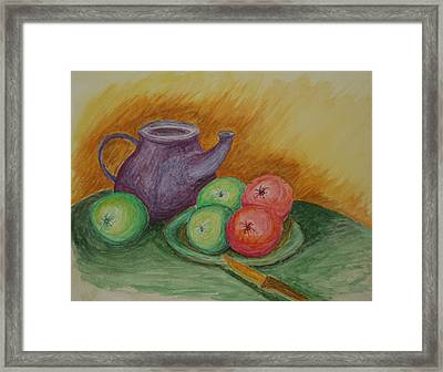 Fruit And Pot Framed Print by Paul Morgan