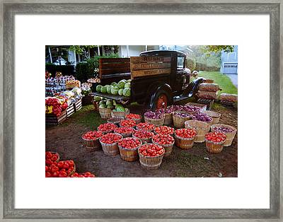 Fruit And Vegitable Stand Truck Framed Print by Tom Brickhouse