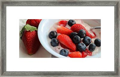 Fruit And Yogurt Snack 2 Framed Print by Barbara Griffin