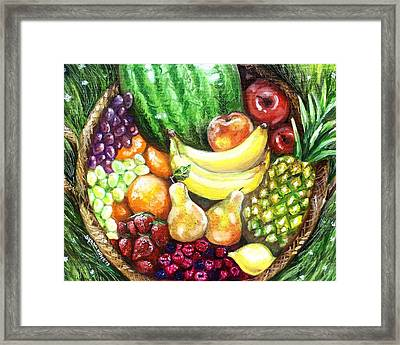 Fruit Basket Framed Print by Shana Rowe Jackson