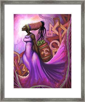 Fruit Bearer Framed Print by The Art of DionJa'Y
