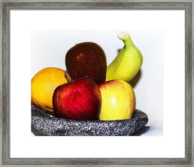 Fruit Bowl Framed Print by Camille Lopez