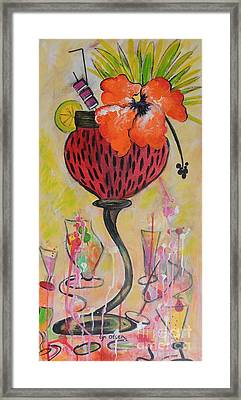 Framed Print featuring the painting Fruit Cocktail Anyone by Lyn Olsen