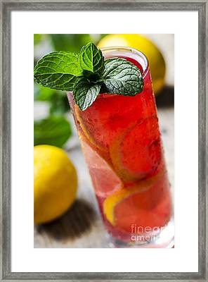 Fruit Cocktail Framed Print by Jelena Jovanovic