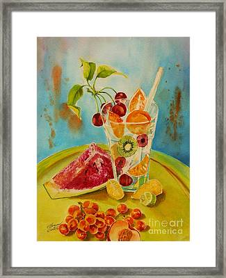 Fruit Coctail Framed Print by Summer Celeste