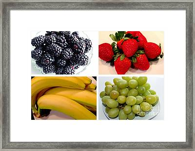 Fruit Collage Framed Print by Barbara Griffin