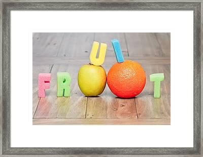 Fruit Concept Framed Print by Tom Gowanlock