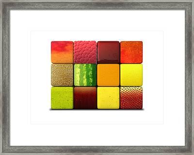 Fruit Cubes Framed Print by Allan Swart